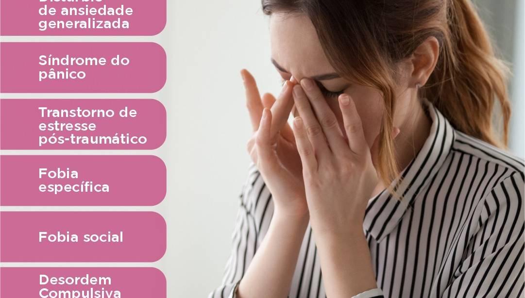 Saibam quais são os transtornos de ansiedade
